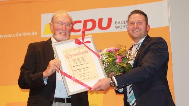 Lothar Fritz zum Ehrenvorsitzenden der CDU Bodenseekreis ernannt